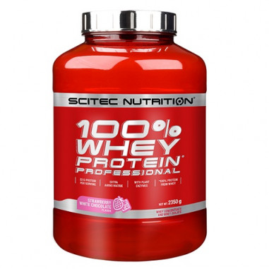 100% Whey Professional Scitec Nutrition -chocolat blanc fraise