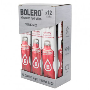 Pack 12 Sticks Bebidas Bolero sabor Cereza 36 g