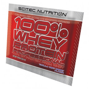 100% Whey Professional Scitec Nutrition Vainilla Very Berry single-dose 30 g