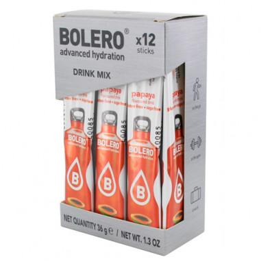Pack 12 Sticks Bebidas Bolero sabor Papaya 3 g