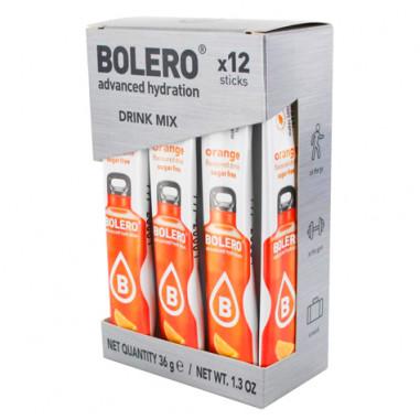 Pack 12 Sticks Bebidas Bolero sabor Naranja 3 g
