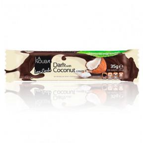 Dark Chocolate bar filled with Coconut cream LowCarb LaNouba 35 g