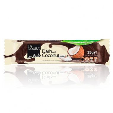 Chocolatina Low-Carb de Chocolate negro rellena de crema de coco LaNouba 35 g