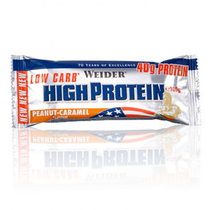 40% Low Carb High Protein Bar Weider Cacahuetes - Caramelo 100 g