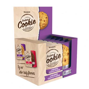 Box 12 x 90g Weider Protein Cookie Caramel Choco Fudge