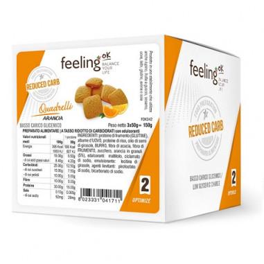 FeelingOk Orange Quadrelli Optimize Mini Cookies 150 g