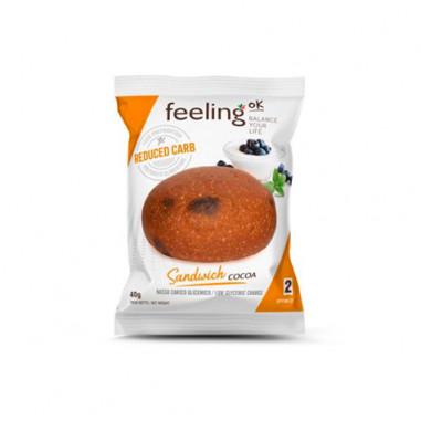 FeelingOk Plain Sandwich Optimize Cocoa Bun 1 unit 40 g