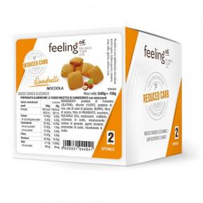 Mini Biscoitos Feelingok Quadrelli Optimize Avelãs 150 g