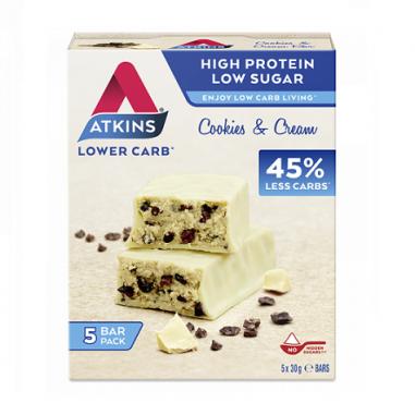 Advantage Bar sabor Cookies & Cream Atkins 5x30 g