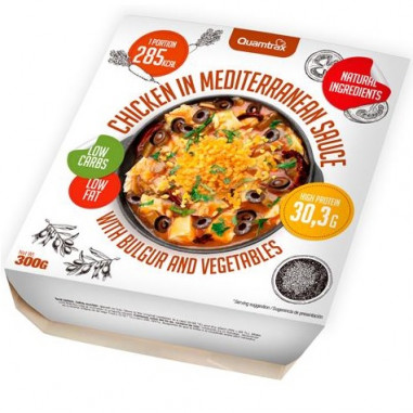 Chicken in Mediterranean sauce with bulgur and vegetables Quamtrax 300 g