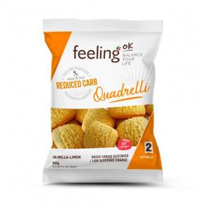 Mini Biscoitos Feelingok Quadrelli Optimize Baunilha-Limão 50 g