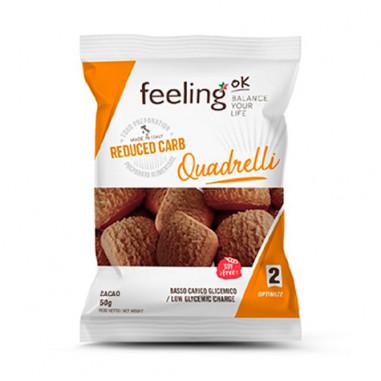Mini Biscoitos Feelingok Quadrelli Optimize Cacau 50 g