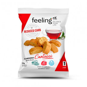 Mini Biscoitos Feelingok Cantucci Start Amêndoas 50 g