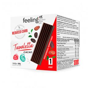 Comprimido de Chocolate Tavoletta FeelingOk 15 unidades (15x20g) 300 g