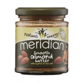 Manteiga de amêndoa amolecida com Sal Marinho Meridian 170 g