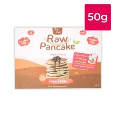 Monodose para Panquecas Low-Carb Raw Pancake Sabor RawTella Clean Foods 50g