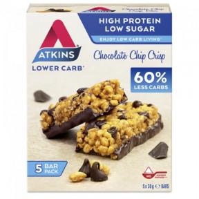 Atkins Daybreak Chocolate Chip Crisp bar 5x30g