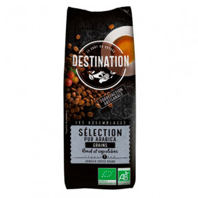 100% Arabica Sélection de Grains de Café Bio Destination 250g