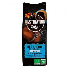 Café Moulu Décaféiné Doux 100% Arabica Bio Destination 250g