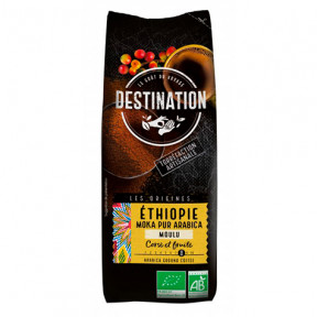 Café Moka Éthiopien Moulu 100% Arabica Bio Destination 250g