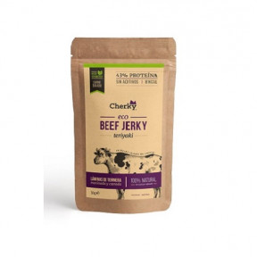 Beef Jerky Carne Curada Ecológica con Sabor a Salsa Teriyaki Cherky 30g