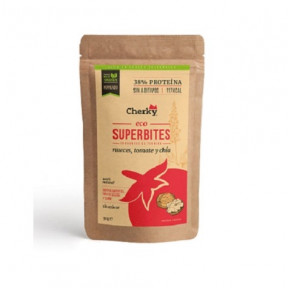 Superbites Snack Crujiente de Ternera Ecológica con Nueces, Tomate y Chía Cherky 30g