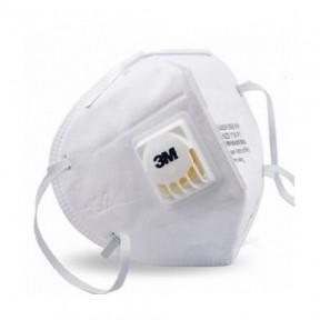 Máscara com válvula e filtro ativo 3M mod. Padrão 9010V N95