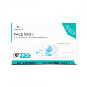 Disposable triple layer surgical mask standard GB / T32610 Box of 50