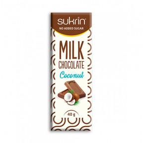 Sukrin Milk Chocolate and Coconut Sugar Free 40g