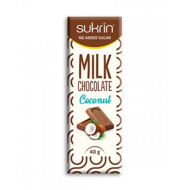Chocolate con Leche y Coco sin Azúcar Sukrin 40g