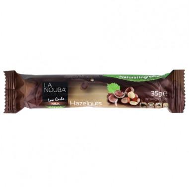 Chocolatina Low-Carb de Chocolate con Leche y Avellanas con Stevia LaNouba 35 g