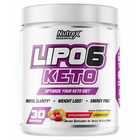 Lipo 6 Keto to lose weight Strawberry-Lemonade flavor Nutrex Research 288g