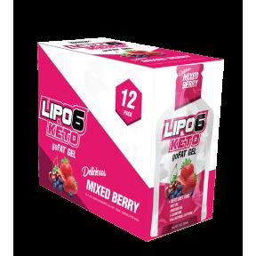 Lipo 6 Keto goFat gel para perder peso sabor bayas Nutrex Research 12x30ml