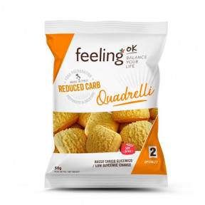 Mini Biscoitos Feelingok Quadrelli Optimize Laranja 50 g