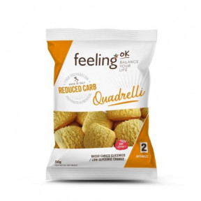 Mini Biscoitos Feelingok Quadrelli Optimize Coco 50 g