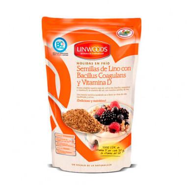 Graines de lin Linwoods avec Bacillus Coagulans et vitamine D dans Cold Grounds 200 g