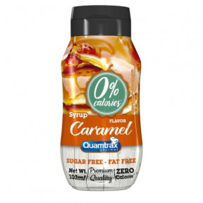 Sirop de caramel 0% calories Quamtrax Gourmet 330ml