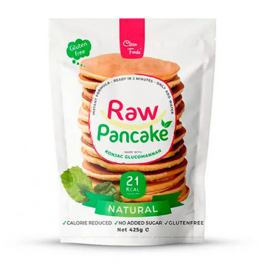 Preparado para Tortitas Low-Carb Raw Pancake sabor Neutro Clean Foods 425 g