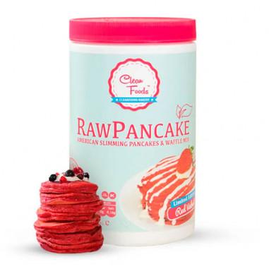 Préparé pour crêpes crues à faible teneur en glucides Saveur Red Velvet Clean Foods 425 g