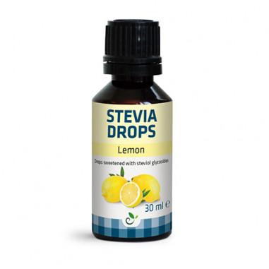 Édulcorant Saveur de citron Stevia Drops de Sukrin 30ml