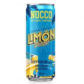 Bebida Low-Carb com BCAA e Cafeína sabor Limón del Sol Nocco 330 ml