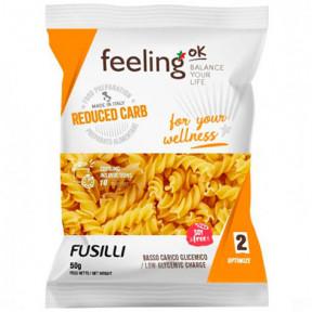 FeelingOk Fusilli Optimize pasta de proteína com baixo teor de carboidratos 50g grátis