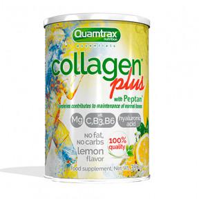 Collagen Plus com Peptan Quamtrax Essentials sabor limão 350g