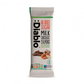 Milk chocolate and almonds tablet with Stevia: Diablo 75 g