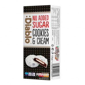 White Chocolate Cookies & Cream free sugar added :Diablo 128g