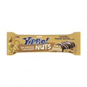 Weider Yippie! Nuts bar sabor caramelo - mantequilla de cacahuete 45g