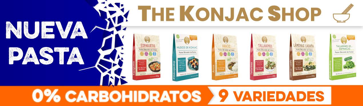 Nueva pasta sin carbohidratos de The Konjac Shop, con hasta 9 variedades de pasta sin carbohidratos ideales para cualquier tipo de dieta