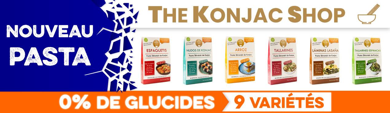 Nouvelles pâtes sans glucides de The Konjac Shop, avec jusqu'à 9 variétés de pâtes sans glucides idéales pour tout type de régime